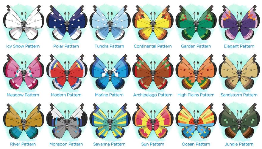 Vivillon Patterns