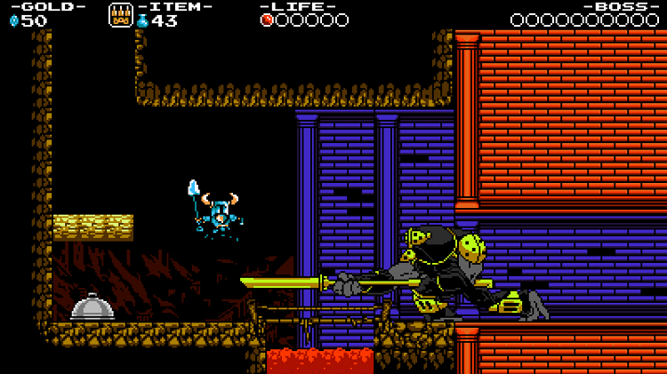Shovel Knight Attacked By Large Enemy