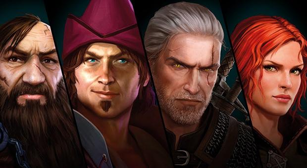 Yarpen Zigrin, Dandelion, Geralt of Rivia, Triss Merigold