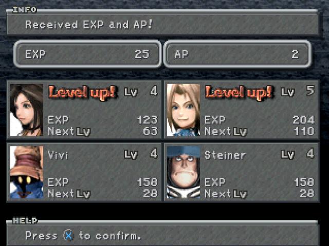Experience Points Final Fantasy IX