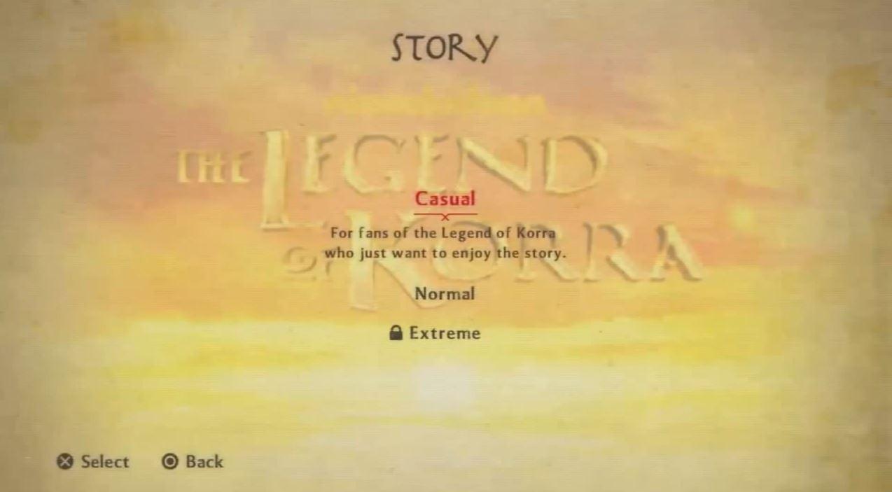Legend of Korra Difficulties