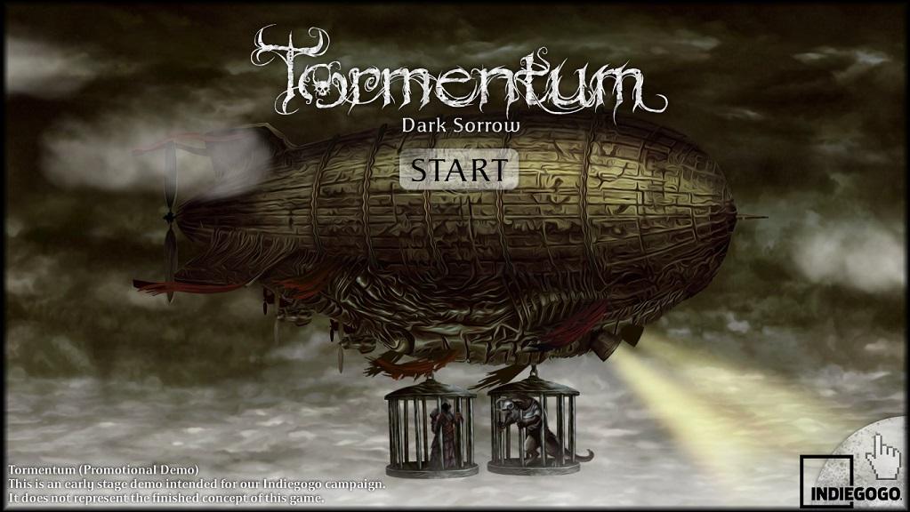 Tormentum Demo: Start Screen
