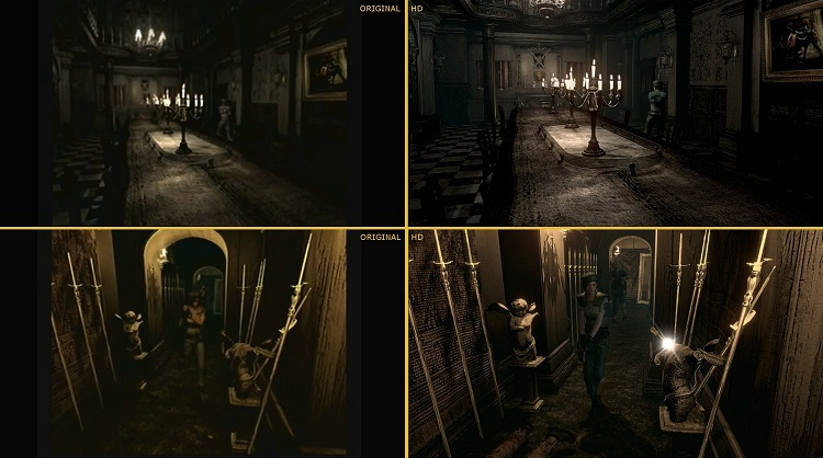 Resident Evil 2015 Remaster Comparison HD