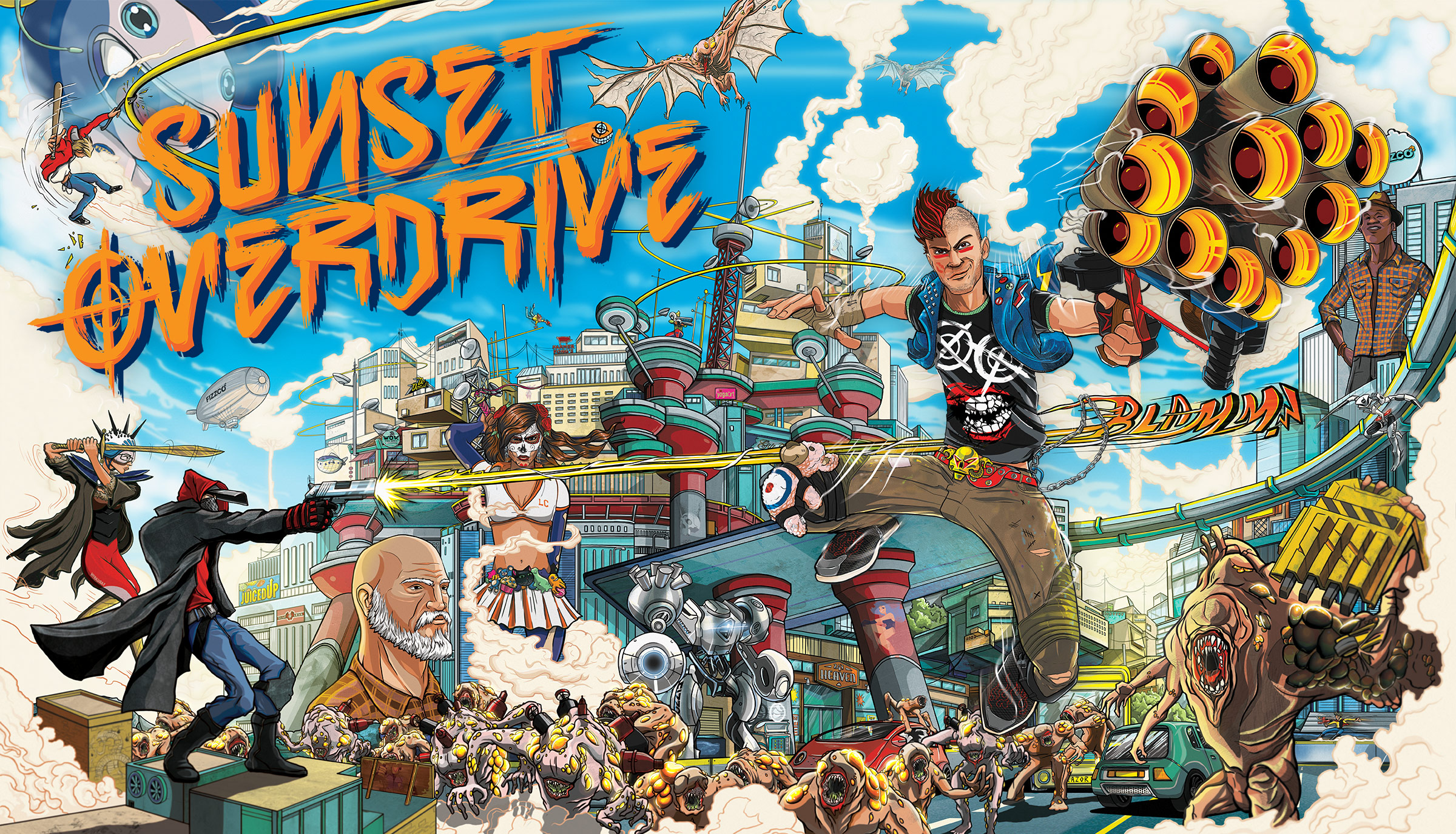 'Sunset Overdrive' Marries Extreme Sports And Ridiculous Guns To Mediocre Effect