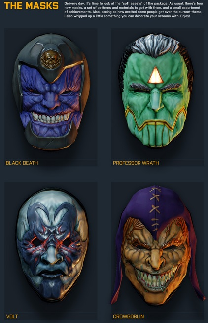 Payday 2 Gage Assault The Masks