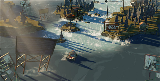 Flame in the Flood River