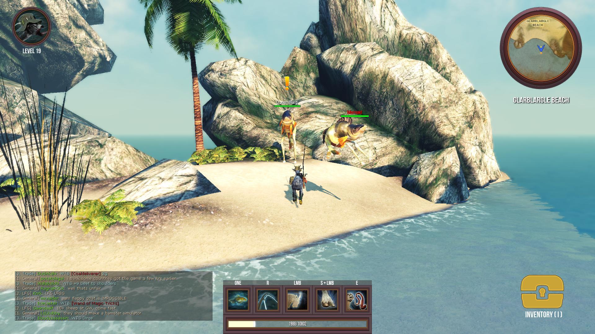 Goat MMO Simulator Glarblargle Beach