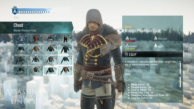 Assassins Creed Unity Customization