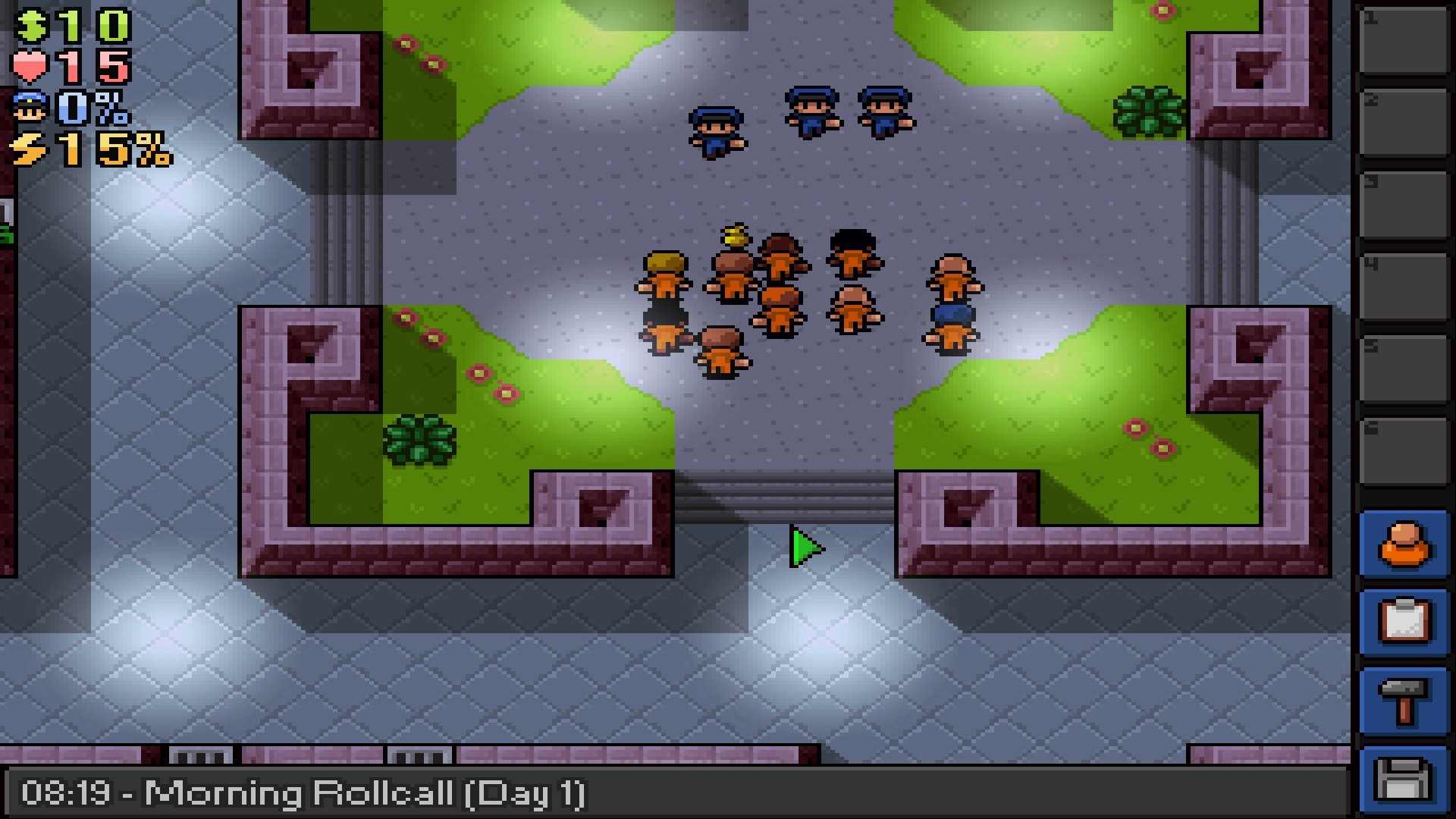 The Escapists Central Perks Roll Call