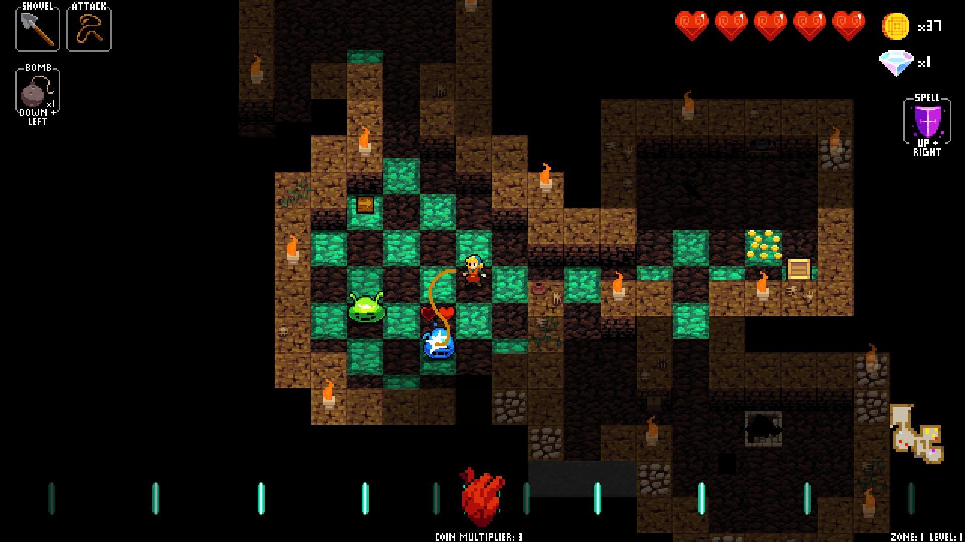 Crypt of the Necrodancer Whip