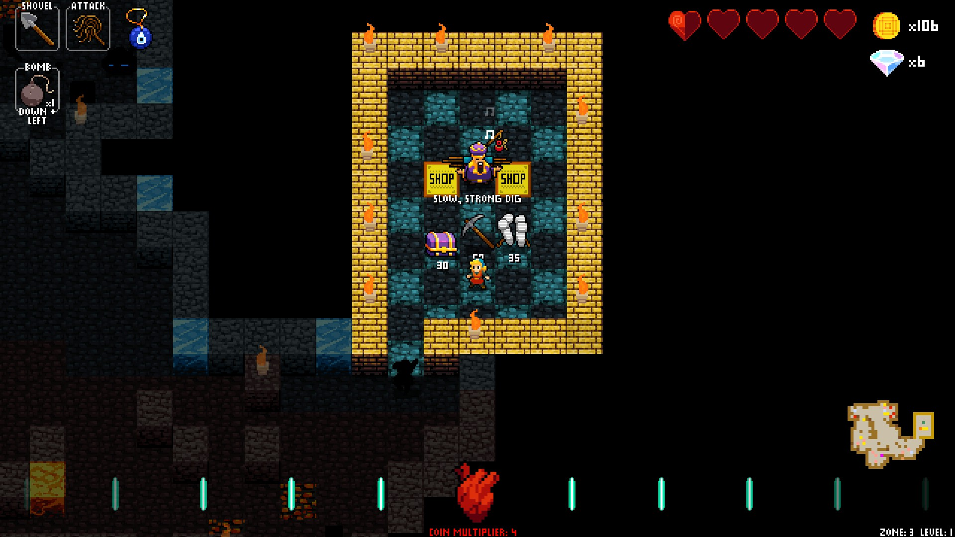 Crypt of the Necrodancer merchant