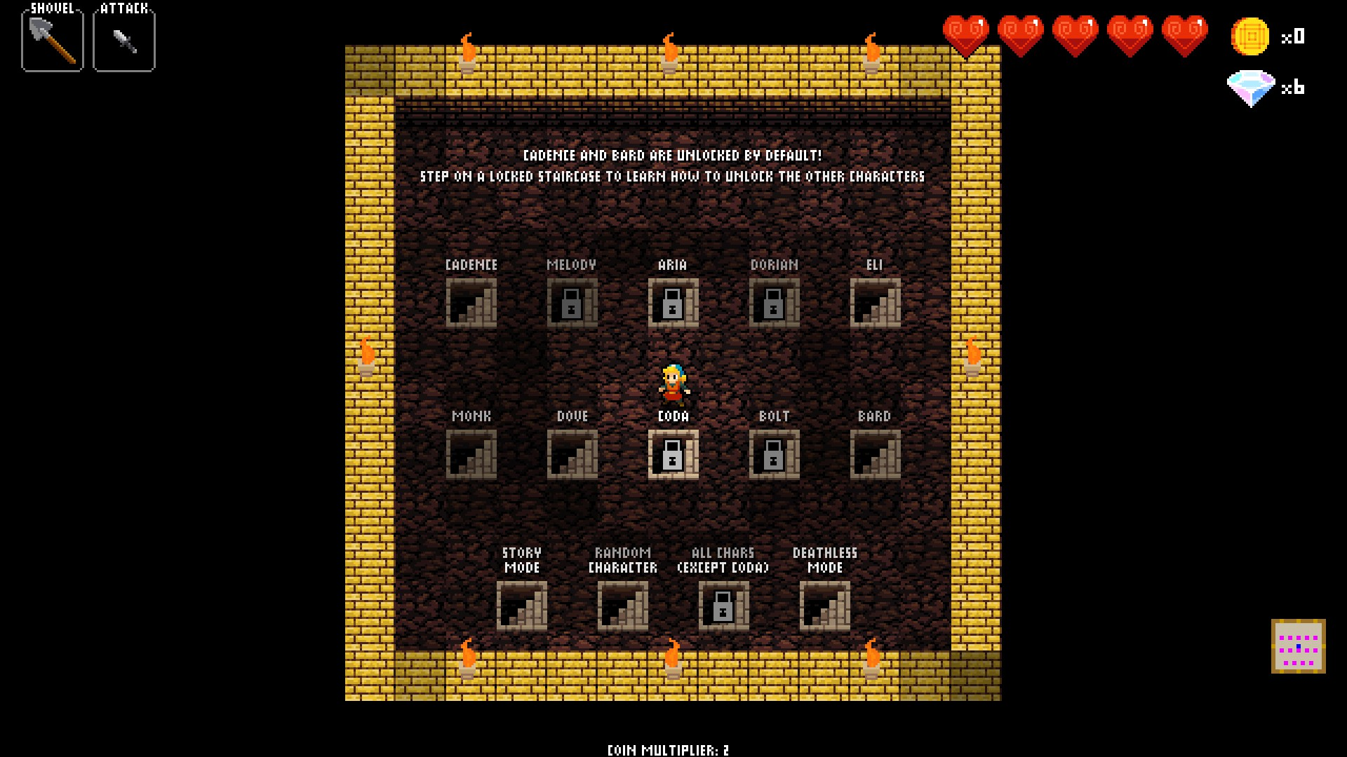 Crypt of the Necrodancer Characters