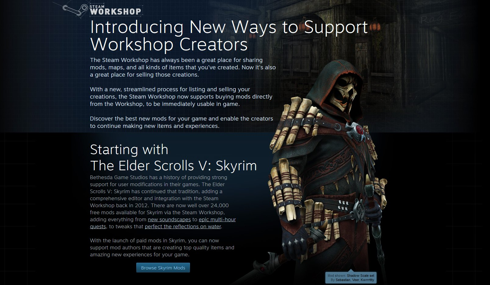 Valve Introduces Paid Mod Support, Rustles Jimmies