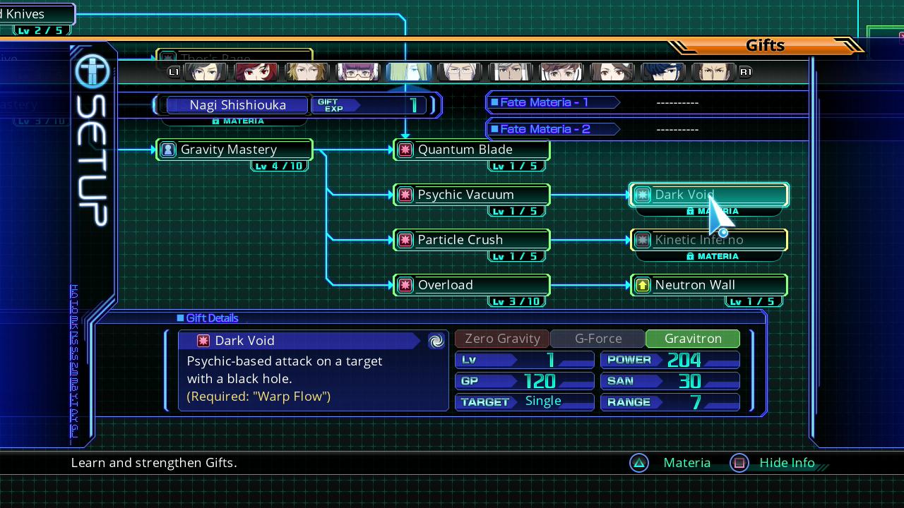 Lost Dimension Nagi Skills