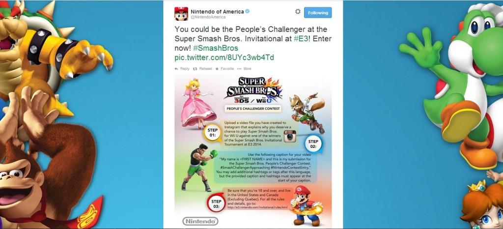 Nintendo's People's Challenger Tweet