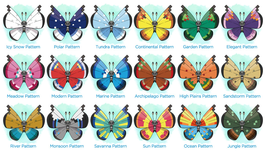 Vivillon Patterns