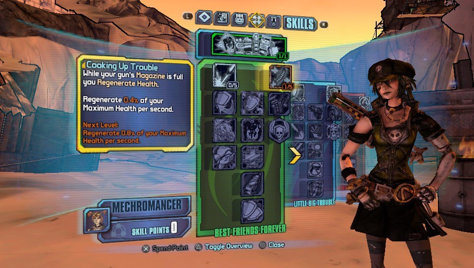 Borderlands 2 Gaige Menu