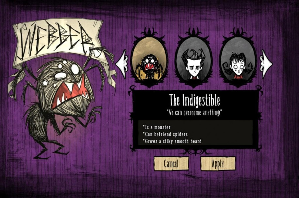 Don't Starve Reign Of Giants Character Select