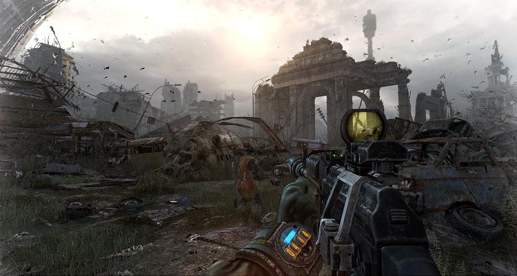 Metro Last Light Screenshot Artyom Explores Above Ground