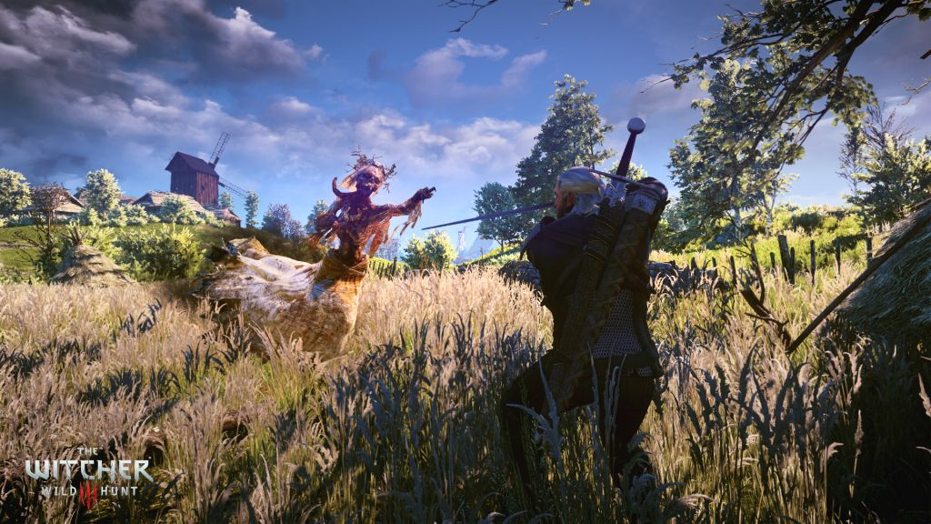 The Witcher 3: Wild Hunt Geralt Fights a Noonwraith