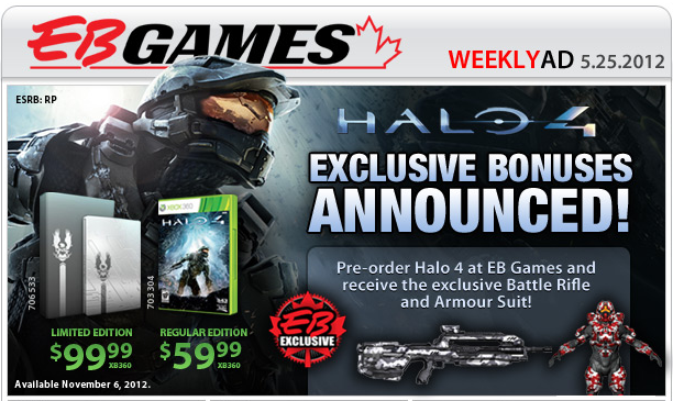 Halo 4 Exclusives Promo for EBGames