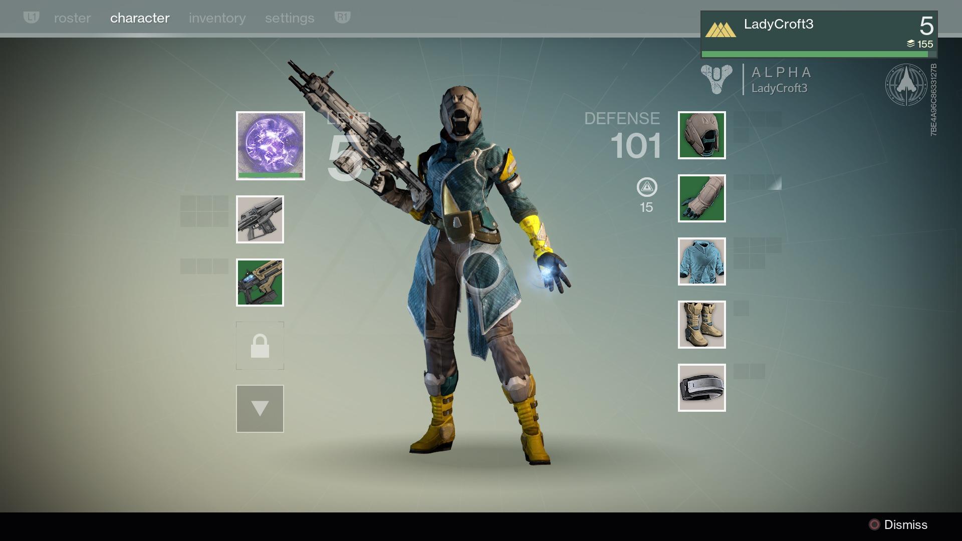 Destiny Alpha Menu