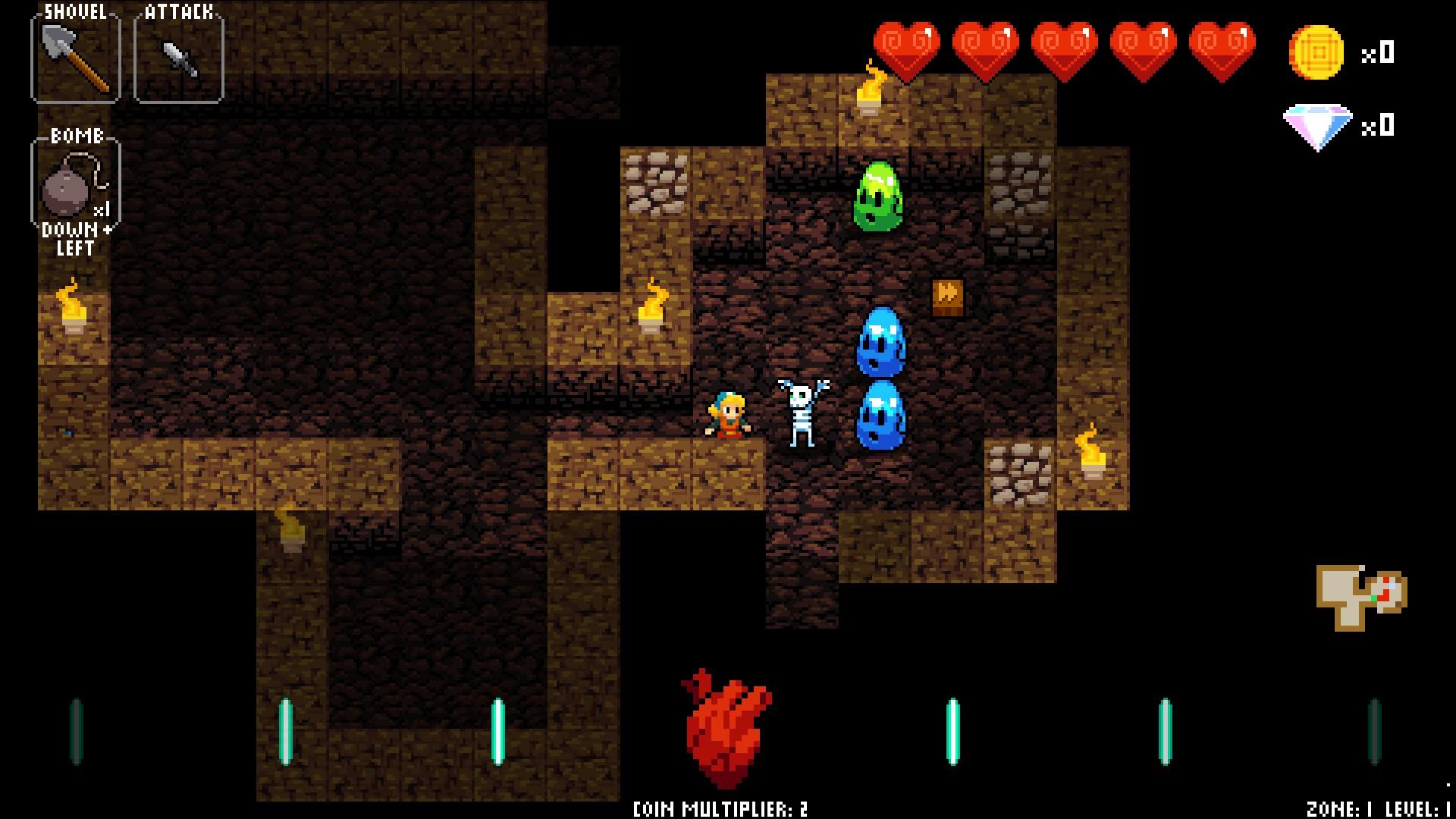 Crypt of the Necrodancer Zone 1