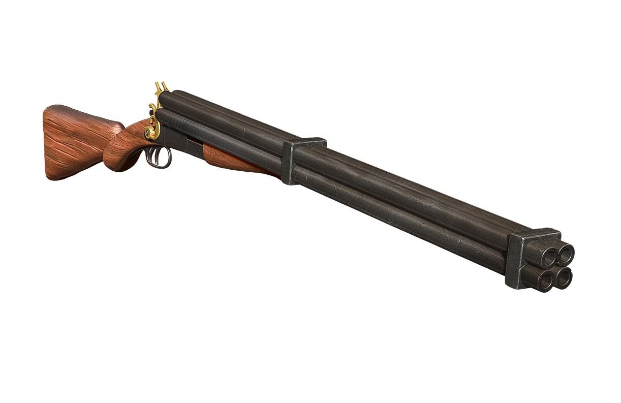 Hard West Quad-Barreled Shotgun