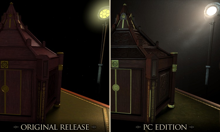 The Room Graphical Comparison Mobile PC