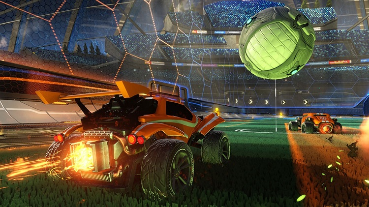 Rocket League Chasing Ball