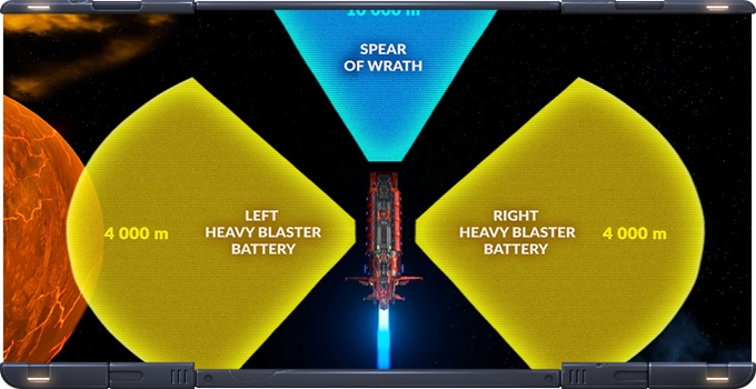 Starfall Tactics Weapon Ranges