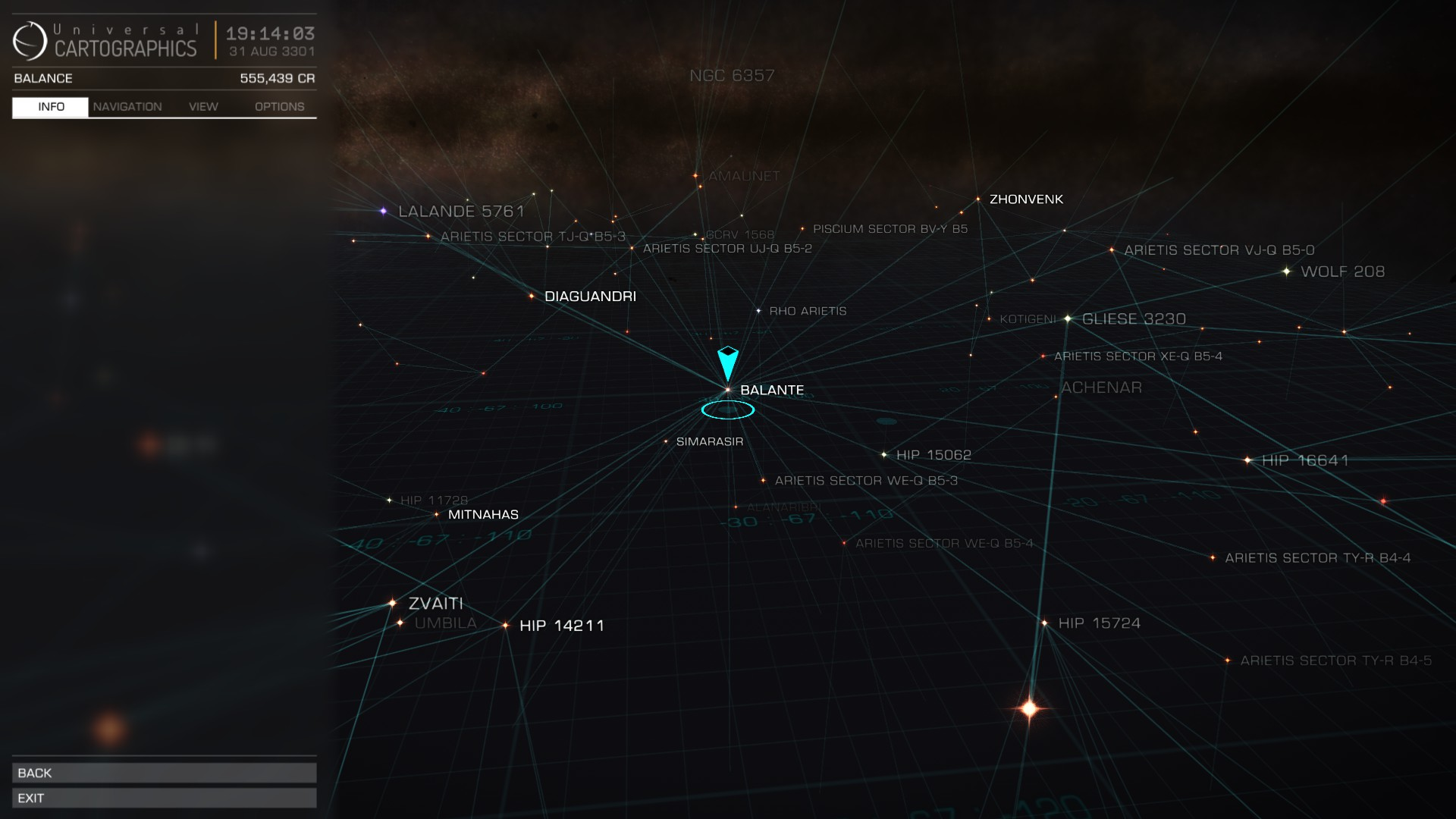 Elite: Dangerous Galaxy Map