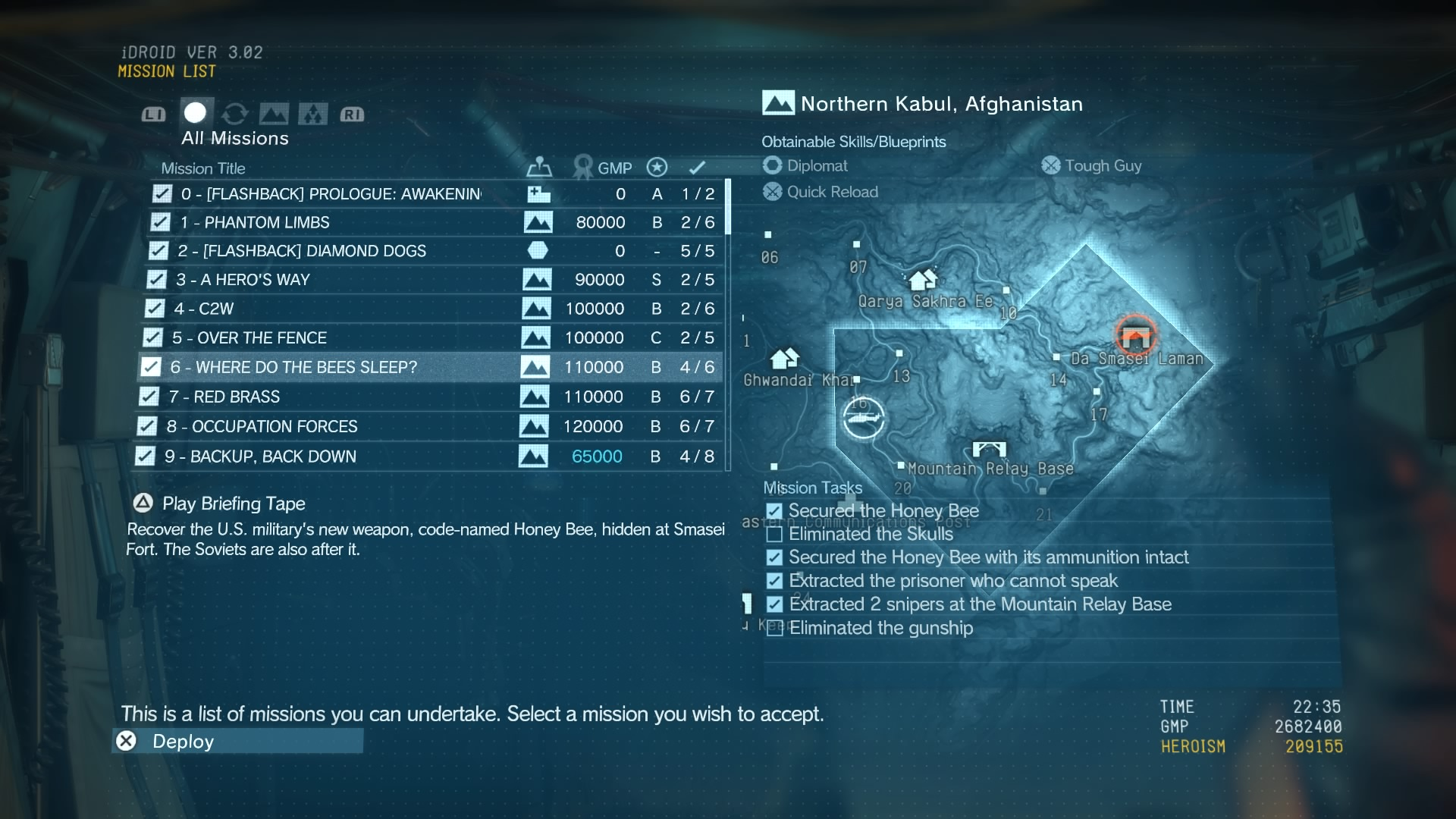 METAL GEAR SOLID V: THE PHANTOM PAIN_Missions
