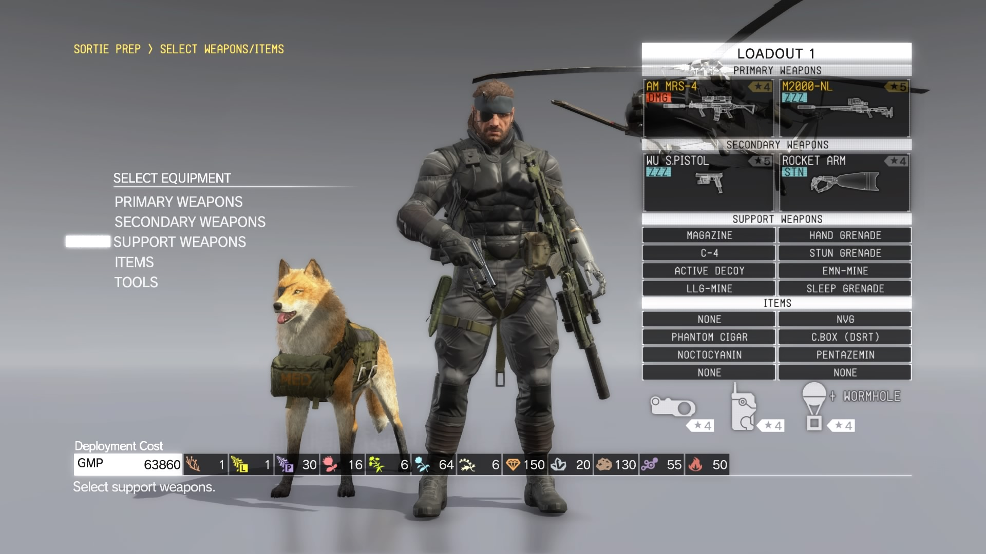 METAL GEAR SOLID V: THE PHANTOM PAIN_Loadout