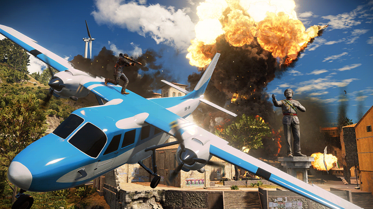 Just Cause 3 Rico Plane Explosion