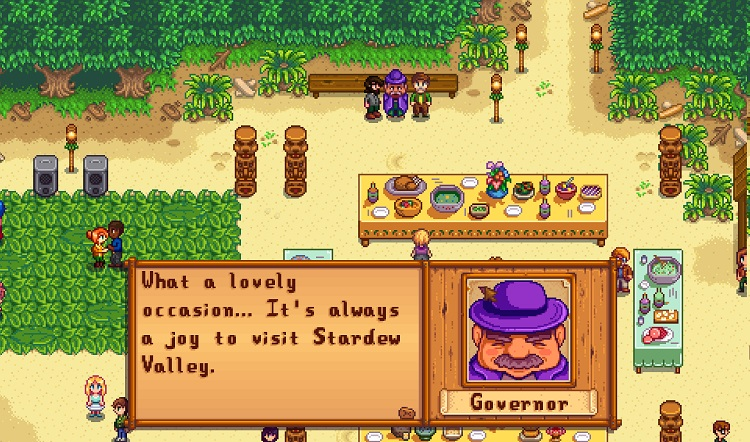 Stardew Valley Governor Interaction