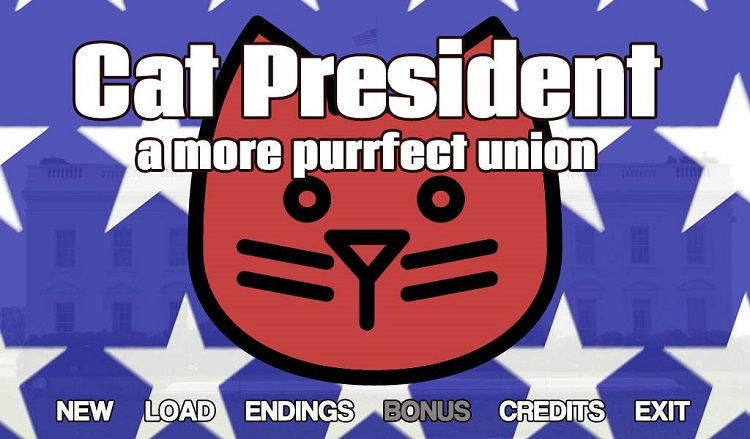 "Choose the next ""Purrsident"" in the wacky visual novel 'Cat President ~A More Purrfect Union~"