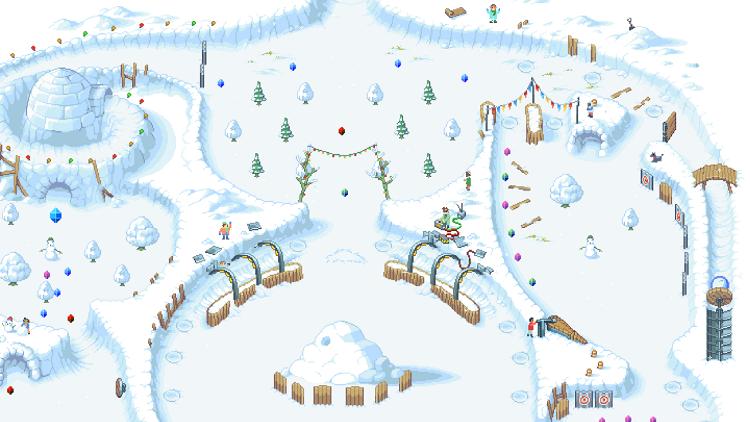 Snowball Pixel Art Layout